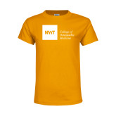 Youth Gold T Shirt-NYIT College of Osteopathic Medicine - Horizontal