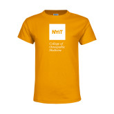Youth Gold T Shirt-NYIT College of Osteopathic Medicine - Vertical
