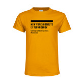 Youth Gold T Shirt-NYIT College of Osteopathic Medicine - Horiontal