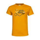 Youth Gold T Shirt-You cant spell Doctor without D.D.