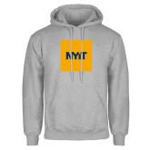 Grey Fleece Hoodie-NYIT Logo