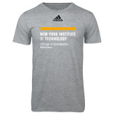 Adidas Sport Grey Logo T Shirt-NYIT College of Osteopathic Medicine - Horiontal