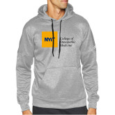Adidas Grey Team Issue Hoodie-NYIT College of Osteopathic Medicine - Horizontal