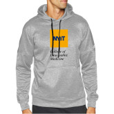 Adidas Grey Team Issue Hoodie-NYIT College of Osteopathic Medicine - Vertical