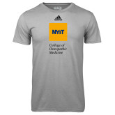 Adidas Climalite Sport Grey Ultimate Performance Tee-NYIT College of Osteopathic Medicine - Vertical