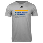 Adidas Climalite Sport Grey Ultimate Performance Tee-NYIT College of Osteopathic Medicine - Horiontal