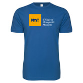 Next Level SoftStyle Royal T Shirt-NYIT College of Osteopathic Medicine - Horizontal