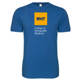 Next Level SoftStyle Royal T Shirt-NYIT College of Osteopathic Medicine - Vertical