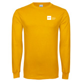 Gold Long Sleeve T Shirt-NYIT College of Osteopathic Medicine - Horizontal