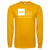 Gold Long Sleeve T Shirt-College of Osteopathic Medicine at Arkansas