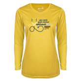Ladies Syntrel Performance Gold Longsleeve Shirt-You cant spell Doctor without D.D.