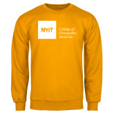 Gold Fleece Crew-NYIT College of Osteopathic Medicine - Horizontal