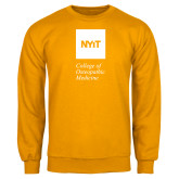 Gold Fleece Crew-NYIT College of Osteopathic Medicine - Vertical