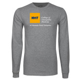 Grey Long Sleeve T Shirt-College of Osteopathic Medicine at Arkansas