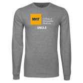 Grey Long Sleeve T Shirt-Uncle