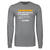 Grey Long Sleeve T Shirt-Aumni