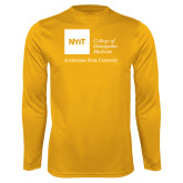 Performance Gold Longsleeve Shirt-College of Osteopathic Medicine at Arkansas