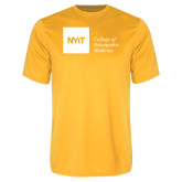Performance Gold Tee-NYIT College of Osteopathic Medicine - Horizontal