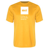 Performance Gold Tee-NYIT College of Osteopathic Medicine - Vertical