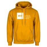Gold Fleece Hoodie-NYIT College of Osteopathic Medicine - Horizontal