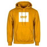 Gold Fleece Hoodie-NYIT Logo