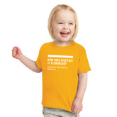 Toddler Gold T Shirt-NYIT College of Osteopathic Medicine - Horiontal