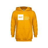 Youth Gold Fleece Hoodie-NYIT College of Osteopathic Medicine - Horizontal