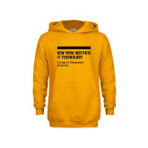 Youth Gold Fleece Hoodie-NYIT College of Osteopathic Medicine - Horiontal