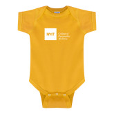 Gold Infant Onesie-NYIT College of Osteopathic Medicine - Horizontal