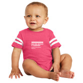 Vintage Hot Pink Jersey Onesie-NYIT College of Osteopathic Medicine - Horiontal