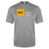 Performance Grey Heather Contender Tee-NYIT College of Osteopathic Medicine - Horizontal