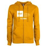 ENZA Ladies Gold Fleece Full Zip Hoodie-Aumni