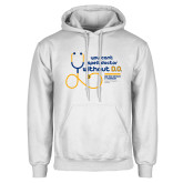 White Fleece Hoodie-You cant spell Doctor without D.D.