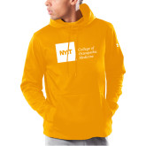 Under Armour Gold Armour Fleece Hoodie-NYIT College of Osteopathic Medicine - Horizontal