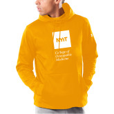 Under Armour Gold Armour Fleece Hoodie-NYIT College of Osteopathic Medicine - Vertical