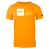 Adidas Gold Logo T Shirt-NYIT College of Osteopathic Medicine - Horizontal
