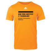Adidas Gold Logo T Shirt-NYIT College of Osteopathic Medicine - Horiontal