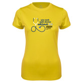 Ladies Syntrel Performance Gold Tee-You cant spell Doctor without D.D.
