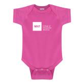 Fuchsia Infant Onesie-NYIT College of Osteopathic Medicine - Horizontal