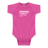 Fuchsia Infant Onesie-NYIT College of Osteopathic Medicine - Horiontal