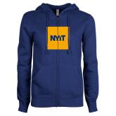 ENZA Ladies Royal Fleece Full Zip Hoodie-NYIT Logo