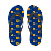 Ladies Full Color Flip Flops-NYIT College of Osteopathic Medicine - Horizontal