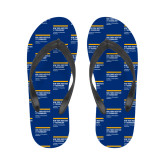 Ladies Full Color Flip Flops-NYIT College of Osteopathic Medicine - Horiontal