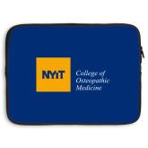 15 inch Neoprene Laptop Sleeve-NYIT College of Osteopathic Medicine - Horizontal