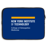 15 inch Neoprene Laptop Sleeve-NYIT College of Osteopathic Medicine - Horiontal