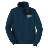 Navy Charger Jacket-NYIT College of Osteopathic Medicine - Horiontal