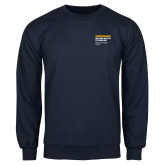 Navy Fleece Crew-NYIT College of Osteopathic Medicine - Horiontal