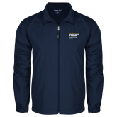 Full Zip Navy Wind Jacket-NYIT College of Osteopathic Medicine - Horiontal