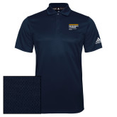 Adidas Climalite Navy Grind Polo-NYIT College of Osteopathic Medicine - Horiontal