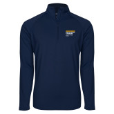 Sport Wick Stretch Navy 1/2 Zip Pullover-NYIT College of Osteopathic Medicine - Horiontal
